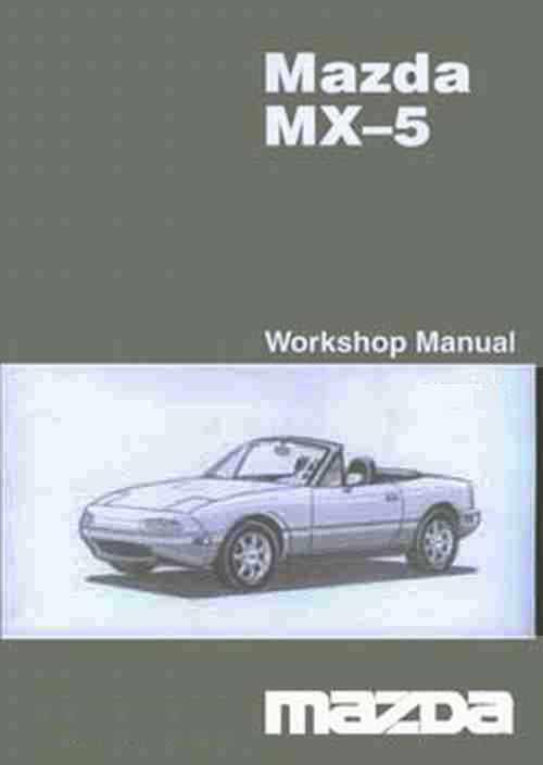 Mazda MX-5 NB 12/2003 Factory Workshop Manual Supplement - Front Cover