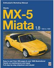 Mazda MX-5 Miata 1.8 1994 - 1998 Enthusiasts Workshop Manual