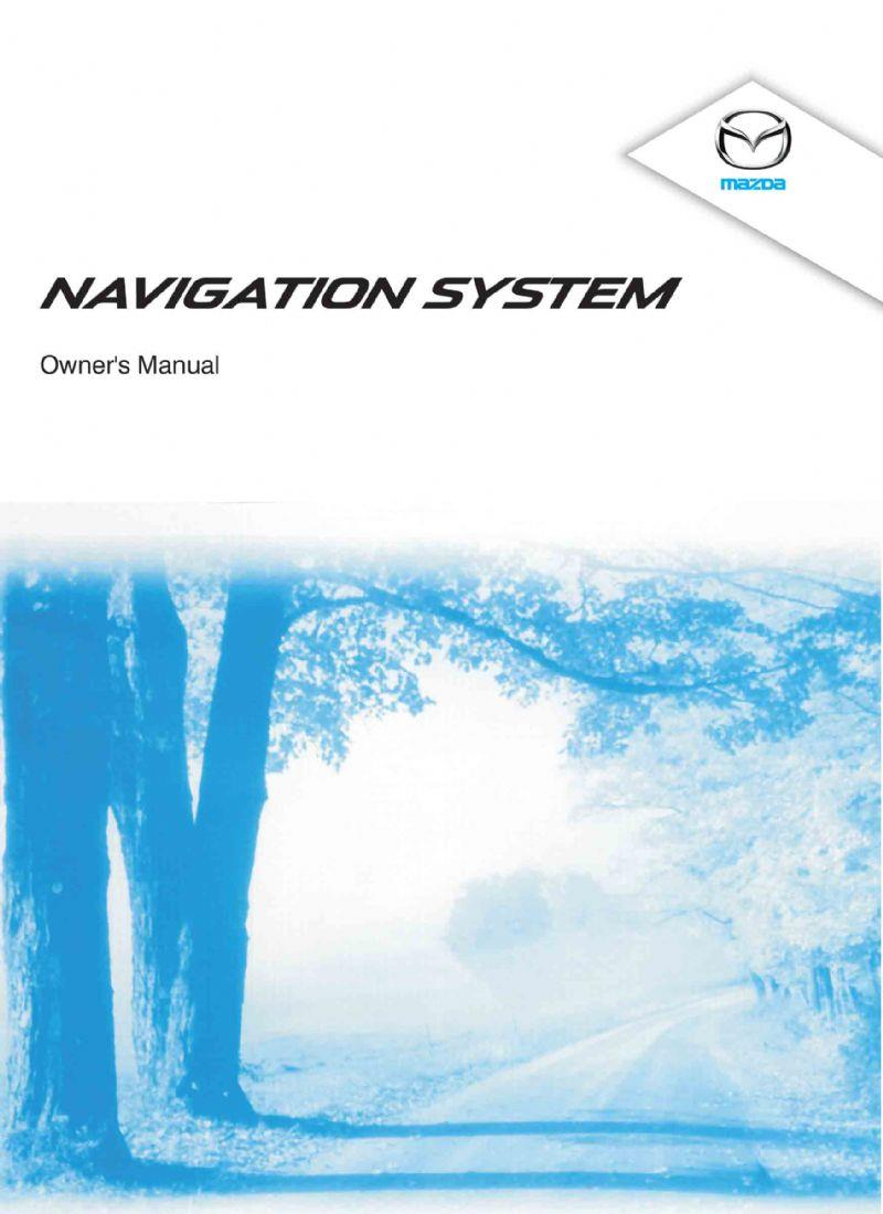 Mazda2 08/2014 Navigation Owners Manual - Front Cover