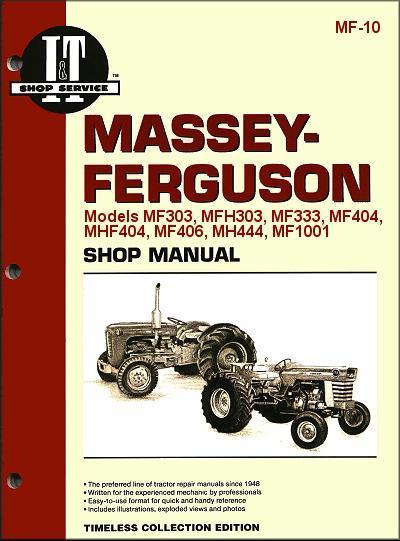 Massey Ferguson Farm Tractor Owners Service & Repair Manual - Front Cover