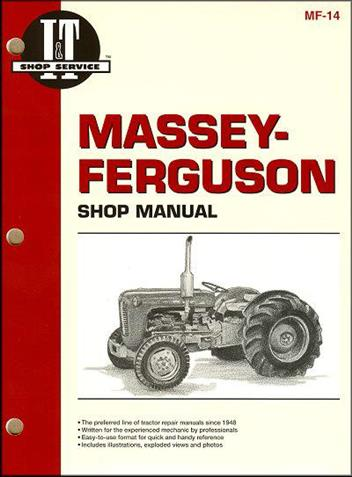 Massey Ferguson 1954 - 1967 Farm Tractor Owners Service & Repair Manual - Front Cover