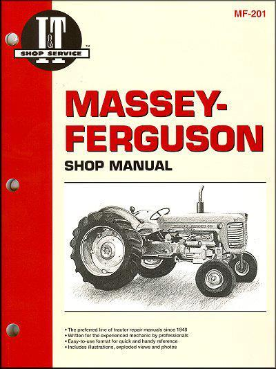 Massey Ferguson Petrol & Diesel Farm Tractor Owners Service & Repair Manual - Front Cover