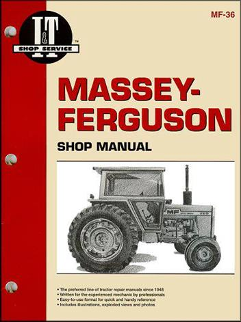 Massey Ferguson 1974 - 1982 Tractor Owners Service & Repair Manual - Front Cover