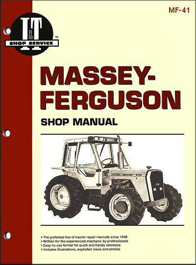 Massey Ferguson 1983 - 1986 Farm Tractor Owners Service & Repair Manual - Front Cover