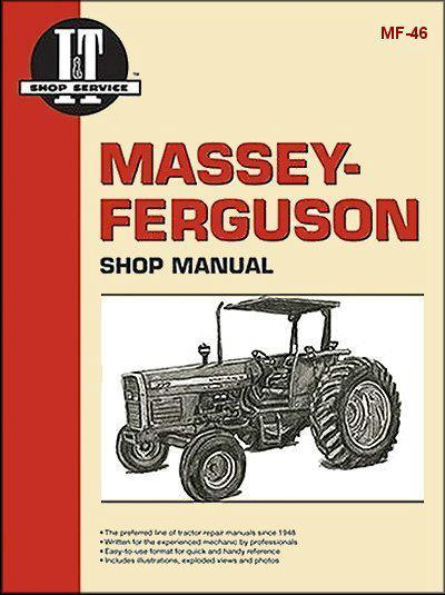Massey Ferguson Diesel Farm Tractor Owners Service & Repair Manual - Front Cover