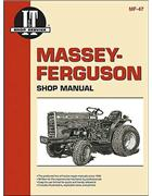 Massey Ferguson Diesel Farm Tractor Owners Service & Repair Manual