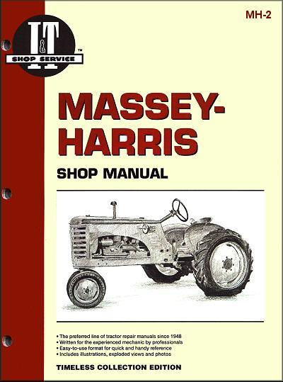 Massey Harris Petrol & Diesel Farm Tractor Owners Service & Repair Manual - Front Cover