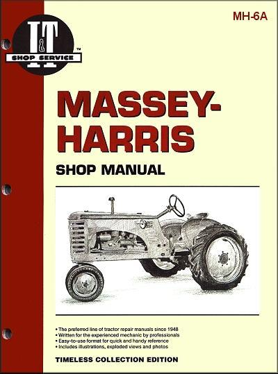 Massey Harris Petrol 1953 - 1955 Farm Tractor Owners Service & Repair Manual - Front Cover