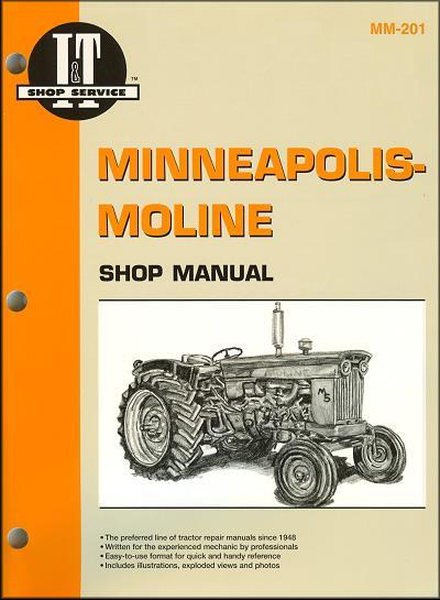 Minneapolis Moline Farm Tractor Owners Service & Repair Manual - Front Cover