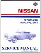 Nissan / Datsun Sports Car Model SP (L) 311-U Service Manual - Front Cover