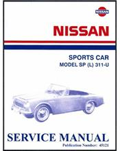 Nissan / Datsun Sports Car Model SP (L) 311-U Service Manual