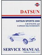Nissan / Datsun Sports 2000 Service Manual : U20 Engine & 5-Speed Transmission - Front Cover