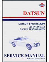 Nissan / Datsun Sports 2000 Service Manual : U20 Engine & 5-Speed Transmission