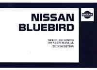 Nissan Bluebird 910 Series 2 Owners Manual - Front Cover