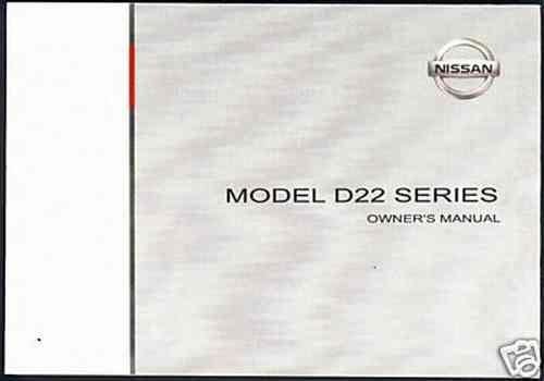 Nissan Model D22 Series 1988 - 2005 Owners Manual - Front Cover