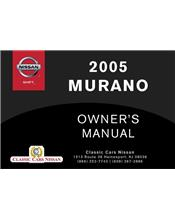 Murano Z50 2005 Owners Manual