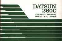 Datsun 260C Model 330 Series Owners Handbook - Front Cover