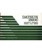 Datsun 260C Model 330 Series Owners Handbook