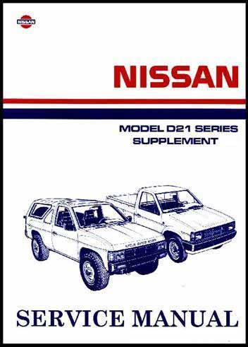 Nissan Navara D21 Pickup 1990 Factory Repair Manual Supplement 6 - Front Cover