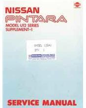 Nissan Pintara U12 Super Hatch Factory Repair Manual Supplement