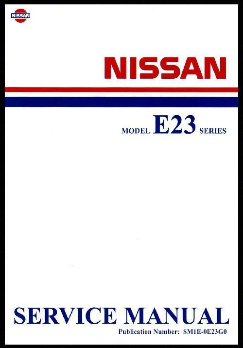 Nissan Urvan E23 Series 1981 Factory Service & Repair Manual - Front Cover