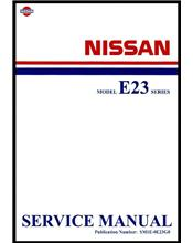 Nissan Urvan E23 Series 1981 Factory Service & Repair Manual