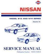 Nissan Model B13 (NX Coupe) and N14 (Pulsar) Series Factory Manual