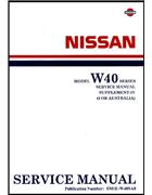 Nissan Model W40 Series (Civilian) Service Manual Supplement 4 (1990) - Front Cover