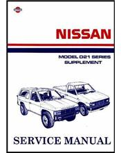 Nissan Navara D21 Pickup 1992 Factory Repair Manual Supplement 8