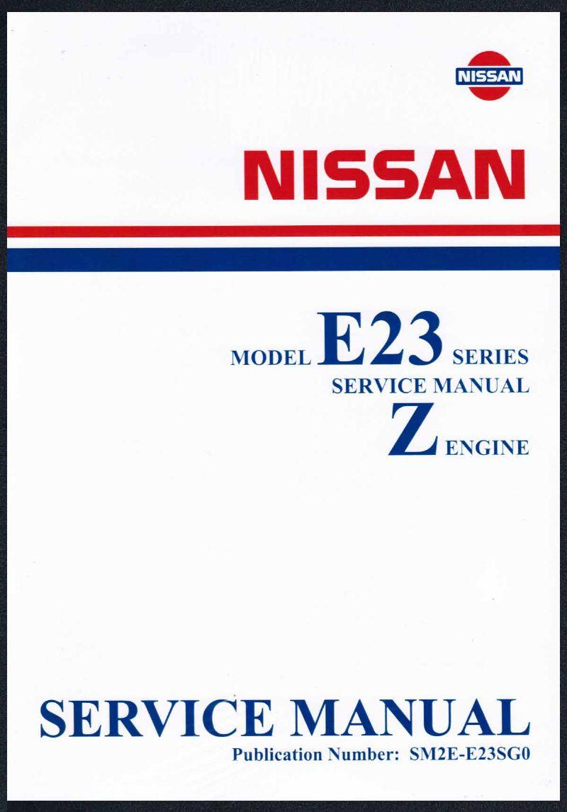 Nissan Urvan E23 Series Z Engine Factory Workshop Manual Supplement - Front Cover