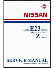 Nissan Urvan E23 Series Z Engine Factory Workshop Manual Supplement