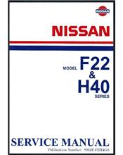 Nissan Cabstar (F22/H40) & Civilian (W40) 1982 Factory Service Manual