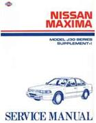 Nissan Maxima (J30) 1992 Factory Service Manual Supplement-I - Front Cover