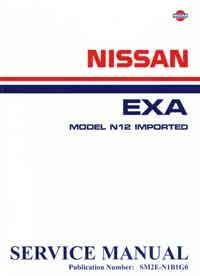 Nissan Pulsar EXA N12 Imported 1982 Factory Service & Repair Manual - Front Cover