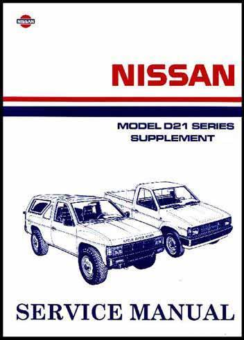 Nissan Navara D21 Pickup 1992 Factory Workshop Manual Supplement 9