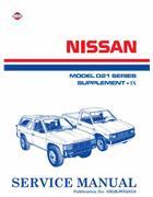 Nissan Navara D21 Pickup 1992 Factory Workshop Manual Supplement 9 - Front Cover