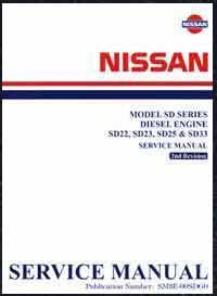 Nissan Diesel Engine (SD) Factory Service Workshop Manual Supplement