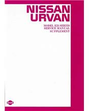 Nissan Urvan E23 Series 1983 Factory Service & Repair Manual Supplement
