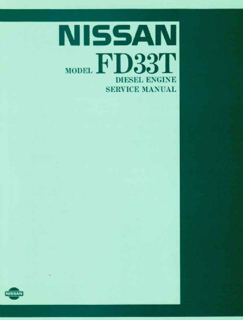 Nissan Model FD33T Diesel Engine Service Manual Supplement