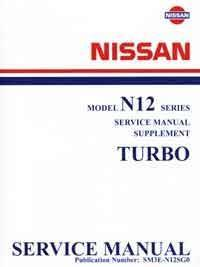 Nissan Pulsar N12 Turbo Factory Service & Repair Manual Supplement - Front Cover