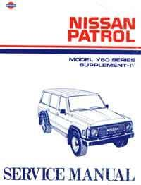 Nissan Patrol GQ Series Y60 1993 Factory Repair Supplement - Front Cover