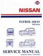 Nissan Patrol MQ 160-61 1982 Factory Service & Repair Manual - Front Cover