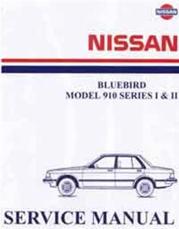 Nissan Bluebird 910 Series 1 & 2 1981 Factory Workshop Manual - Front Cover