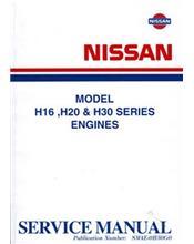Nissan E20 Van Engine Supplement Manual
