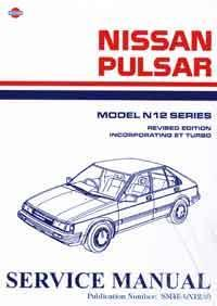 Nissan Pulsar N12 & ET Turbo 1984 Factory Service & Repair Manual