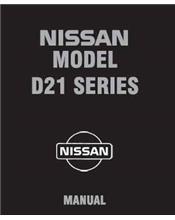 Nissan Navara D21 Pickup 1994 Factory Repair Manual Supplement Number 12