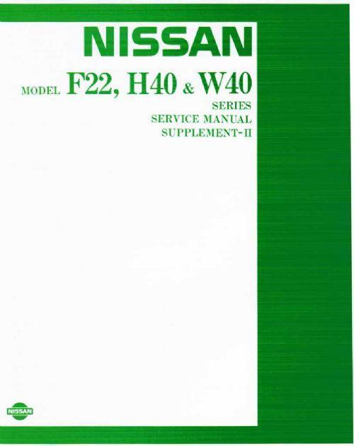 Nissan Cabstar (F22/H40) & Civilian (W40) 1984 Repair Supplement II - Front Cover