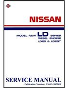 Nissan LD Series Diesel Engine LD20/LD20T Factory Service Manual Supplement - Front Cover