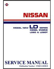 Nissan LD Series Diesel Engine LD20/LD20T Factory Service Manual Supplement