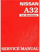 Nissan Maxima A32 1995 Factory Workshop Repair Manual - Front Cover